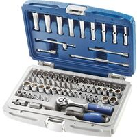 1//2 Drive Socket Set Imperial Metric Ratchet Extension Plug UJ 42pc Sil109