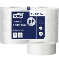 "Tork 120257 Advanced Jumbo Roll 2Ply-2.1/4""C (PK6)"