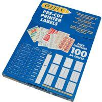 Offis Multi-purpose Label (14 Per Sheet) Pack-100