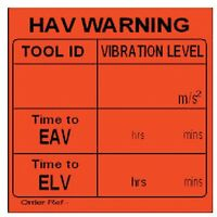 HAV Self-write EAV & ELV Adhesive Labels 51MMX51MM Red- you get 5