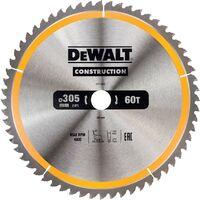 DeWalt DT1960-QZ Construction Circular Saw Blade 305MM X 30MM X 60T