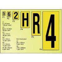 Beaverswood Vinyl S/A Labels B/Y 19X14MM 0-9 (36 CHX10 Sh)