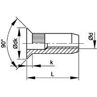 Qualfast 3-OCSH-35 Blind Countersunk Rivet Nut Open Serrated Shank BZP (BX-250)