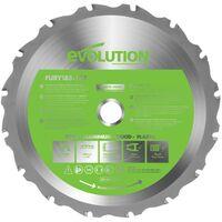 Evolution Power Tools Fury 185MM Replacement Multi-purpose Tungsten Carbide Tipp