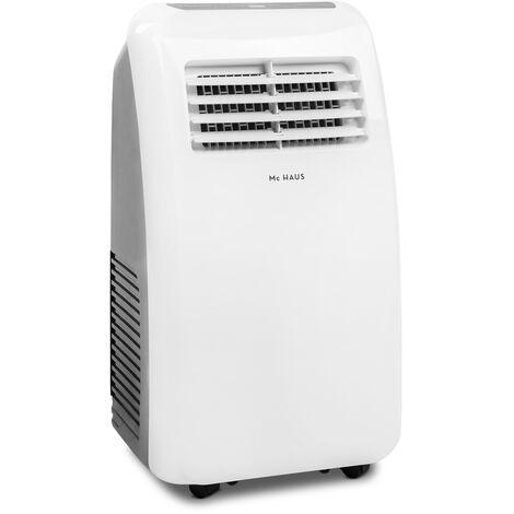 ARTIC-10 - Climatiseur mobile de 7000 BTU/h, systeme SILENTBLOCKS, 1765 frigories, 2,05kW, classe A, 3 en 1: glaciere, ventilateur et deshumidificateur, avec telecommande, espaces entre 20-30m²