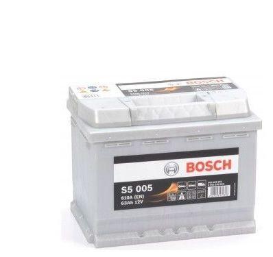Batería de Coche Bosch 63Ah 610A EN S5005 borne + dcha