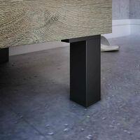 Mueble baño Athena 2 cajones y espejo color roble alaska moderno industrial 80x45 cm SIN LAVAMANOS
