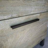 Mueble de baño y espejo 2 puertas aseo color roble alaska industrial moderno 50x40 cm SIN LAVAMANOS