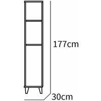 Columna Auxiliar Baño Sintra Color Blanco Armario Aseo Estilo Moderno Almacenaje Mueble 177x33x30 Cm