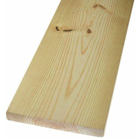 Tavola carpenteria in legno abete piallato cm 1,8 x 12 x 200 listello listone