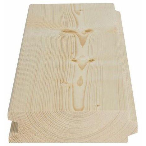 Perlina legno abete mm 32x150x2000 doghe ad incastro da soppalco qualitÀ ab
