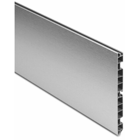 Zoccolo per cucina e mobili in alluminio varie altezze e lunghezze dimensione disponibile: h 10 x 100 cm