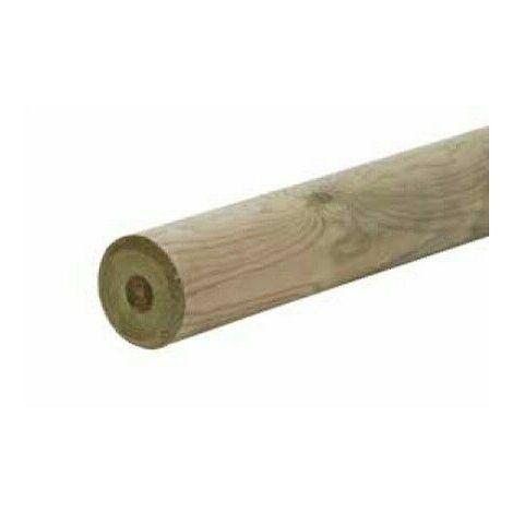 Palo tondo in legno pino impregnato autoclave ø 100 x 1500 mm da esterno