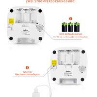 Balimo LCD Distributeur de Croquettes 4L pour Chats et Chiens Distributeur Automatique de Nourriture Adaptateur secteur / batterie ?Programmable 4 Repas par Jour fonction d'enregistrement