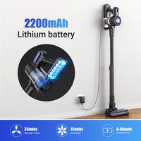 Aspirateur Balai Sans fil Rechargeable 22KPA Aspirateur portable LED Vacuum Cleaner Multifonctionnel ?pour Maison Salon Chambre