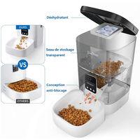 Distributeur de Croquettes 4L Chats Chiens avec webcam WiFi FaceTime Distributeur Automatique de Nourriture Adaptateur secteur / batterie ?Programmable 4 Repas par Jour