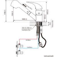 Robinet Cuisine Mitigeur Noire avec Douchette Extractible Rotatif 360° ?Mélangeur de cuisine Evier Robinetterie Mitigeur Eau et Froide