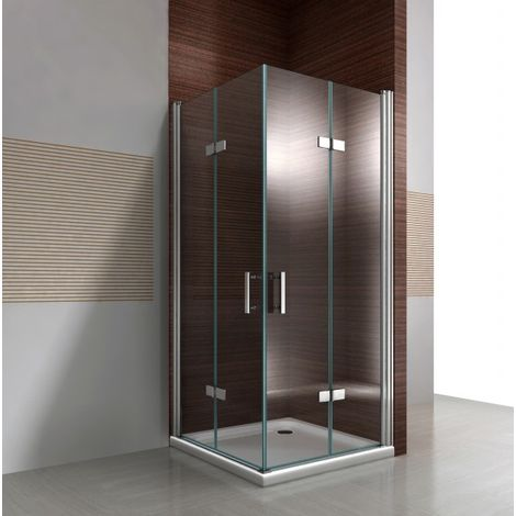 Paroi de douche avec porte pliante en verre NANO 8 mm DX213 - largeur sélectionnable: 70cm, 90cm