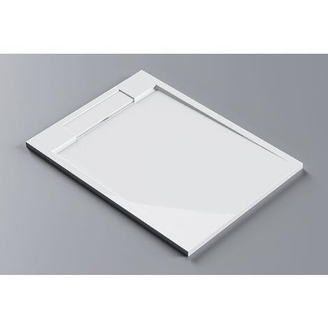Receveur de douche en pierre solide(Solid Surface) M2290CW / PB3085G - 120x90x3,5cm - blanc brillant