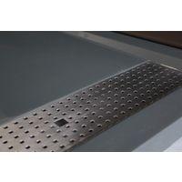 Receveur de douche extra plat en pierre solide(solid stone) 1280BG gris brillant 120x80x4,5cm