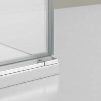 Paroi de douche, cabine de douche en coin, NANO + receveur EX403, 100x100x195cm