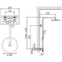 Système de douche thermostatique avec douchette à main et tête de douche - Bernstein 4011 noir