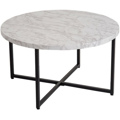 Industrial design living room geometric coffee table with marble effect