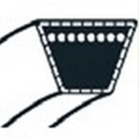 754-04211 - Courroie Moteur / Variateur pour tondeuse autoportée MTD (15,9x1676mm)
