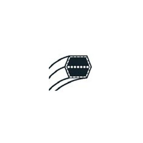 754-04175 - Courroie de coupe pour tondeuse autoportée MTD Ejection arrière coupe 92cm