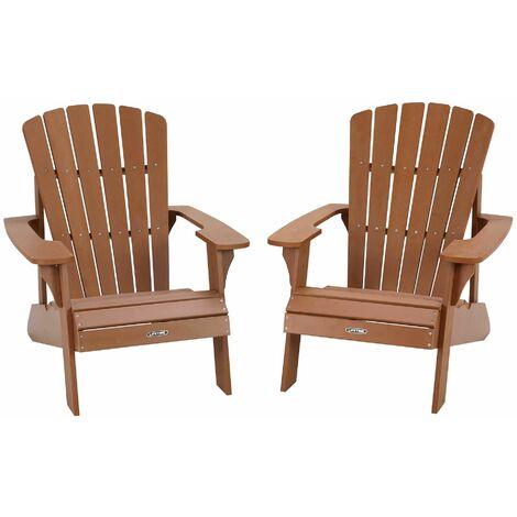 Lifetime 2 Pack Adirondack Chair Combo - Brown