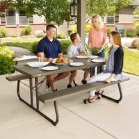 Lifetime 6-Foot Classic Folding Picnic Table - Brown