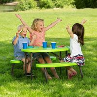 Lifetime Childrens Oval Picnic Table - Lime Green