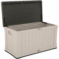 Lifetime Heavy-Duty Outdoor Storage Deck Box (116 Gallon) - Tan