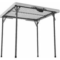 Lifetime 34-Inch Square Fold-In-Half Table (Essential) - White Granite