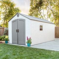 Lifetime 8 Ft. x 15 Ft. Outdoor Storage Shed - Tan