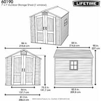 Lifetime 7 Ft. x 7 Ft. Outdoor Storage Shed - Tan