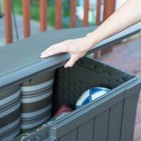 Lifetime Outdoor Storage Deck Box (116 Gallon) - Brown