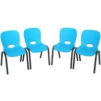 Lifetime Childrens Stacking Chair - 4 Pk (Essential) - Blue