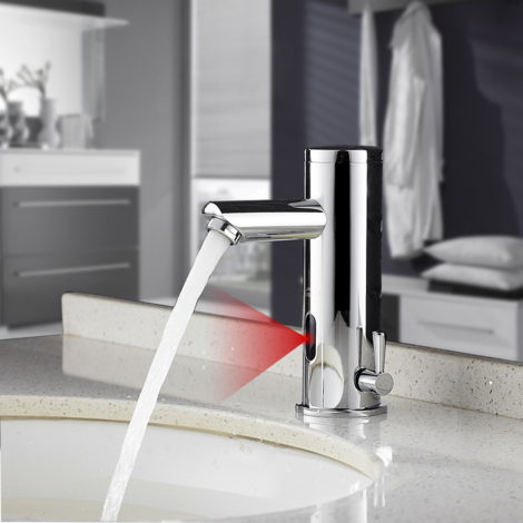 Automatic Infrared Sensor Basin Mixer Tap, Bathroom Basin Faucet Tap, Wash Sink Taps, Sensor Taps