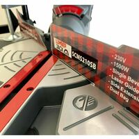 "Lumberjack SCMS210 8"" 210mm Single Bevel Sliding Compound Mitre Saw"