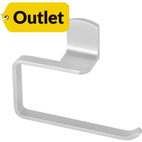 Toallero cuadrado de aluminio Atenea fijación opcional con adhesivo - CM Baños