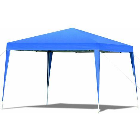 COSTWAY Tente de réception Tente Pavilion Pliable Chapiteau 3x3 m Tonnelle Jardin Imperméable