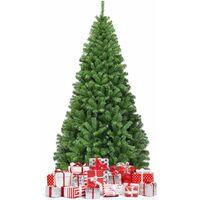 COSTWAY Sapin de Noël Artificiel 180CM, Aiguilles en PVC avec 1000 Branches Pied Métallique Solide, Arbre de Noël Idéal pour Maison,Bureau,Magasins Hôtels, Vert