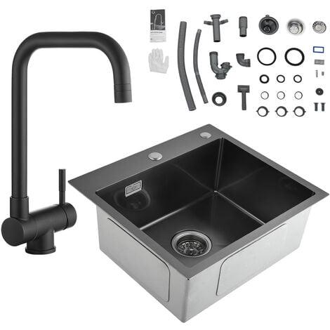 Lavello Da Cucina Lavandino Cucina Lavello Quadrato Cucina In Acciaio Inox Spazzolato Vasca Doppia 78 X