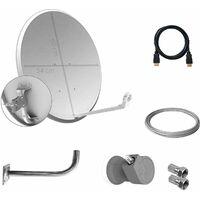 Amplificador m/ástil 40 dB UHF-UHF LTE Tecatel AMP-LTE405F Color Blanco