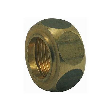 Ecrou pour collet battu sans joint fibre - Ø A: 3/8'' x Ø B: 12.2mm