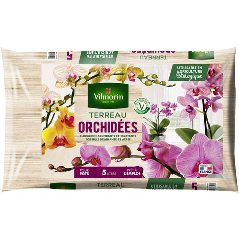 Terreau orchidées sac de 5 litres