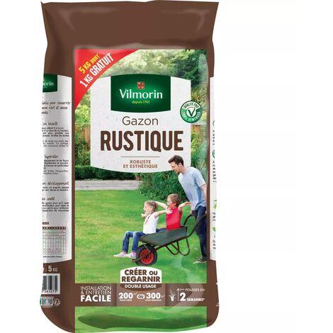Gazon rustique 5kgs dont 1kg gratuit