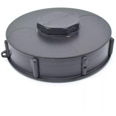Couvercle 15cm pour cuve 1000L avec ouverture centrale , couleur noire