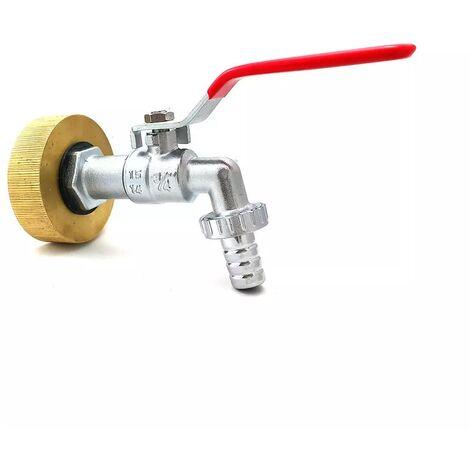 Raccord femelle S60x6 laiton - robinet laiton chromé 3/4 pouce - 3/4'' BSP